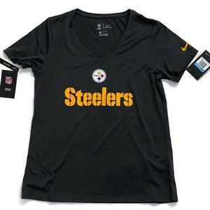 Nike Dri Fit Pittsburgh Steelers Womens Slim Fit S